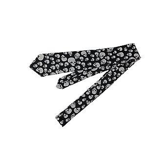 Black and White Skulls Necktie Punk Goth Neck Tie