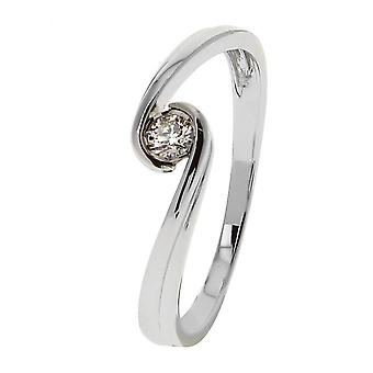 Weißgold Ring 375 Diamant 09ZQ84GB4