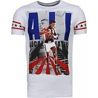 Muhammad Ali-Rhinestone T-shirt-White