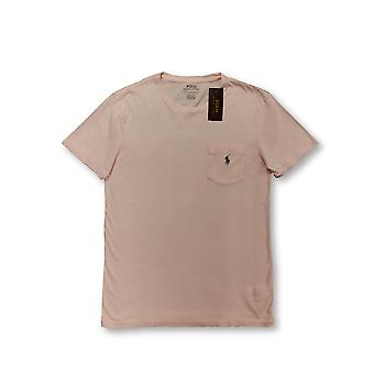 T-shirt slim fit personalizzata Ralph Lauren Polo in rosa pallido