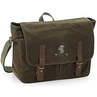 Duke Of Wellington Regiment - Licensed British Army Embroidered Waxed Canvas Messenger Bag
