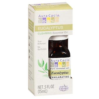 Aura cacia essential oil, eucalyptus, 0.5 oz