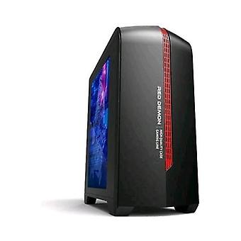 Adj case 6601 red demon mini tower micro atx/itx/mini itx 1 usb port 3.0 color black/red