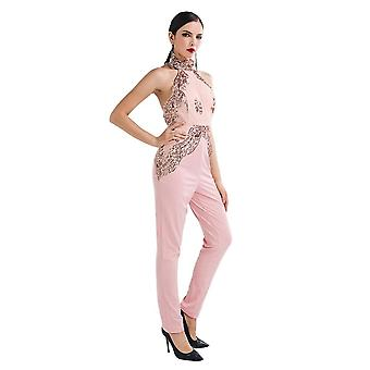 Pink sequin jumpsuit