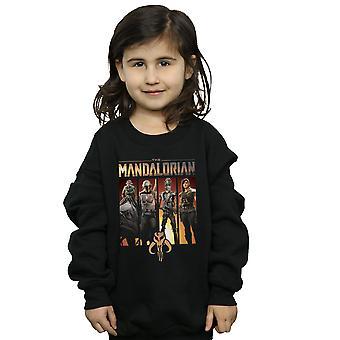 Star Wars Girls The Mandalorian Character Lineup Sweatshirt