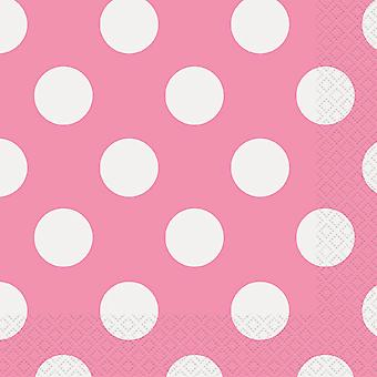 Luncheon Napkins 16 Pkg Hot Pink Decorative Dots Lnpk 30431
