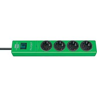 Surge protection socket strip 4 x Green PG connector Brennenstuh