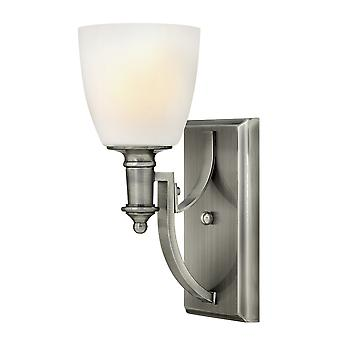 Truman Contemporary Wall Light with Etched Opal Glass Shade