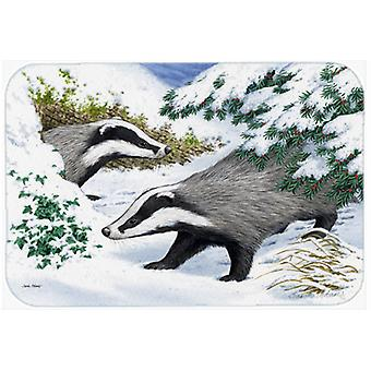 Badgers in the snow Kitchen or Bath Mat 20x30 ASA2182CMT
