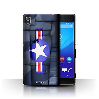 STUFF4 Case/Cover for Sony Xperia Z4/America/Blue/Airplane Fighter Wing