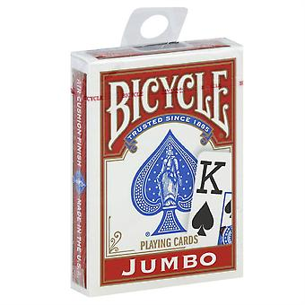 1PK OF RED Bicycle Jumbo Index Playing Cards
