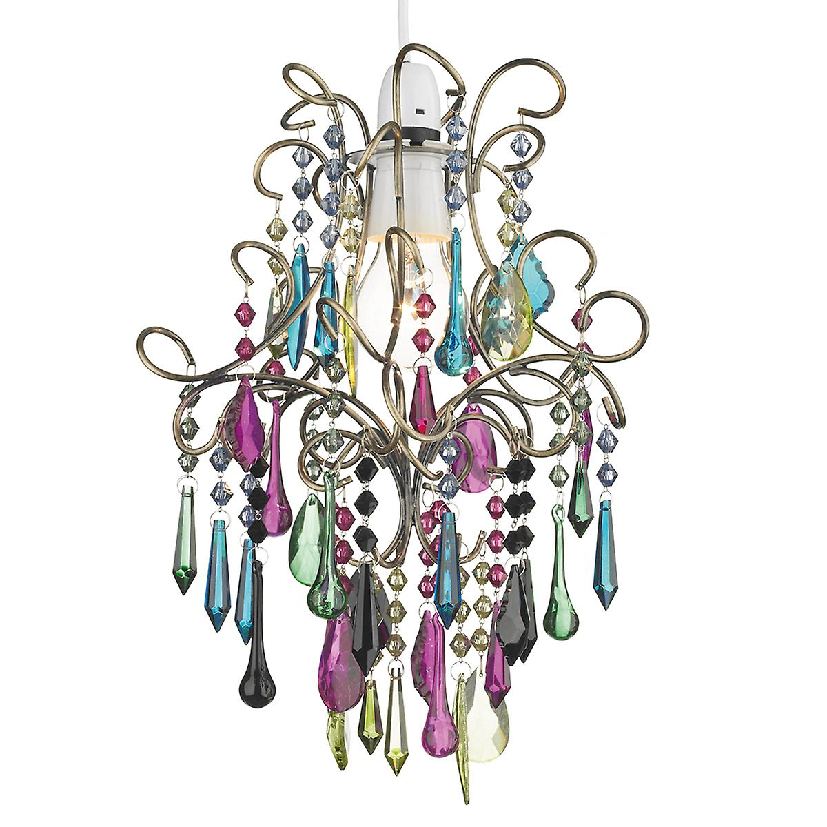 Dar JOD65 Jodi Easy Fit Non Electric Pendant With Glass Droppers