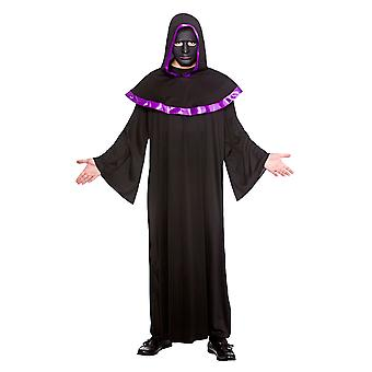 Men's Halloween Secret High Priest with Mask Fancy Dress Costume-One Size