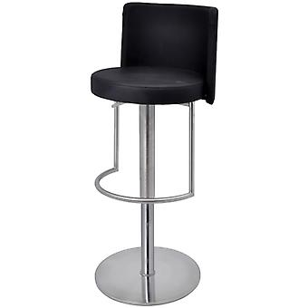 Moyzan Brushed Steel Kitchen Bar Stool With Footrest