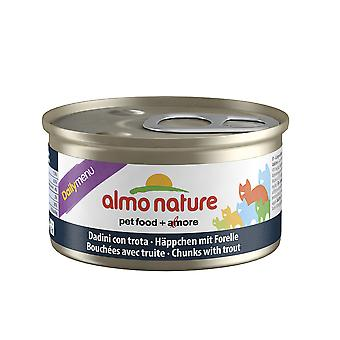 Almo Nature Daily Menu Cat Chunks With Trout 85g (Pack of 24)