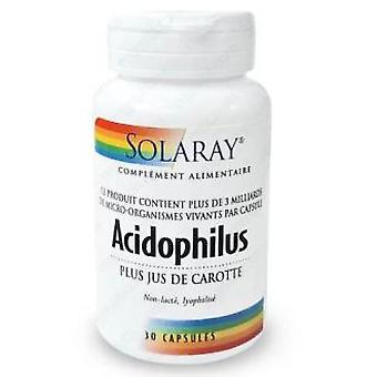 Solaray Acidophilus Plus 30 Capsules (Vitamins & supplements , Prebiotics & probiotics)