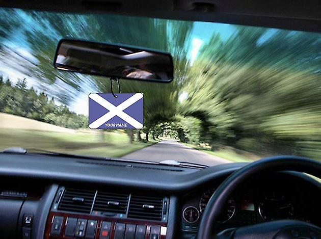 Scotland Flag Personalised Car Air Freshener