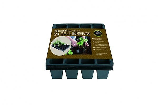 Professional 24 Cell Inserts Pack of 5 For Plants Gardening