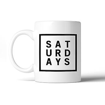 Saturdays Coffee Mug Simple Design Funny Gift Ideas For Coworkers
