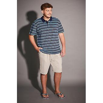 BadRhino Light Blue & Navy Striped Polo Shirt