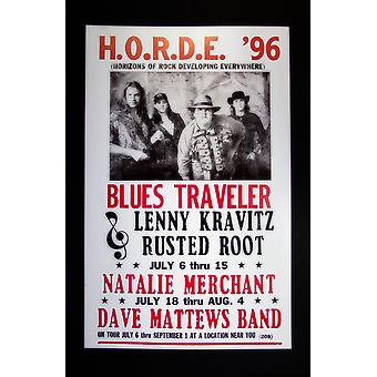 Blues Travelers retro concert poster