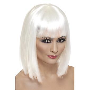 Glam Perücke, Weiß