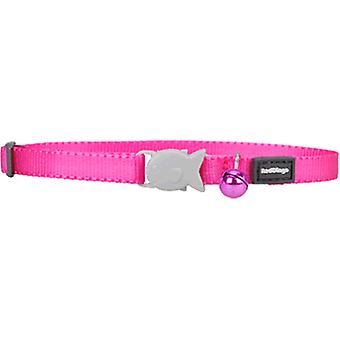 Red Dingo Smooth Cat Collar Fish Close Fuxia 12Mmx20-32Cm