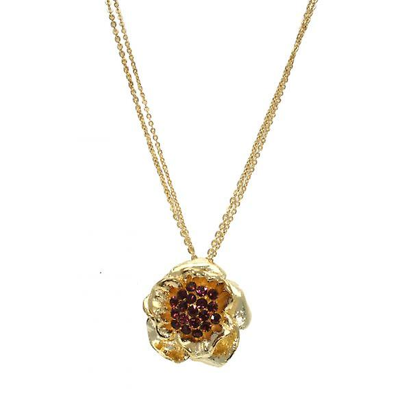W.A.T Long Gold Flower Necklace