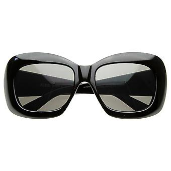 Designer Inspired Womens Fashion Oversized Bold Square  Sunglasses