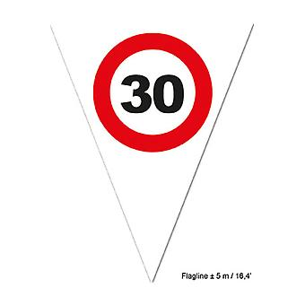 Party favors  Flagline 30 red traffic sign 5m
