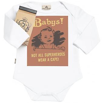 Spoilt Rotten Not All Superheroes Wear Capes Organic Baby Grow In Milk Carton