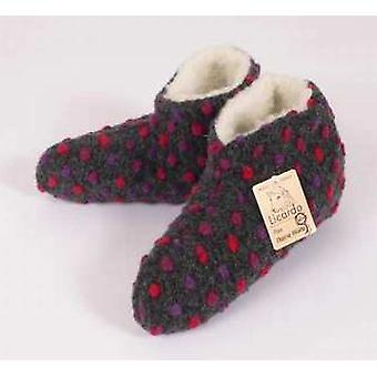 Bed shoes wool dots anthracite 38/39