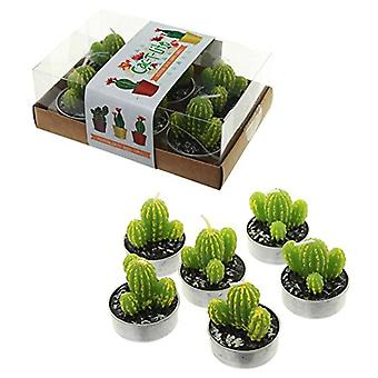 Puckator Spiky Cactus Tea Lights Set of 6