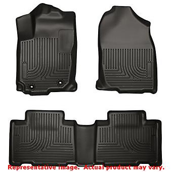 Husky Liners 98971 Black WeatherBeater Front & 2nd Seat FITS:TOYOTA 2013 - 2014