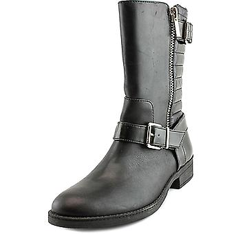 INC International Concepts Women's Blayre Round Toe Leather Mid Calf Boot