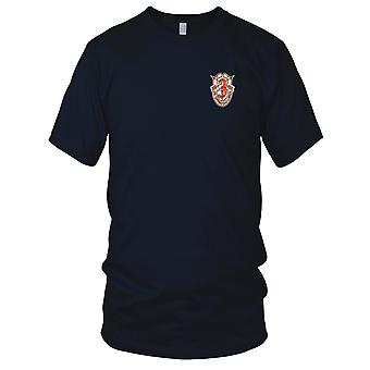 US Army - 3rd Special Forces Group Crest Desert Red 3 Embroidered Patch - Ladies T Shirt