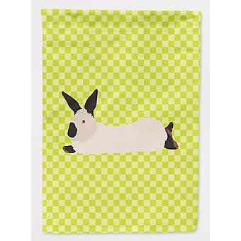 California hvit kanin grønt flagg House lerretet