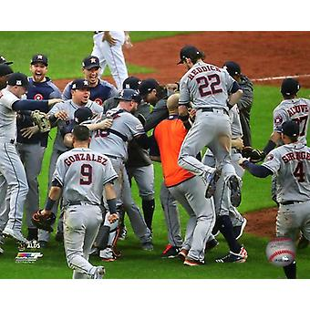 The Houston Astros celeberate winning Game 4 of the 2017 American League Division Series Photo Print