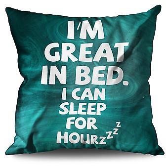 Dormire Nap pigro scherzo divertente cuscino in lino dormire Nap pigro scherzo divertente | Wellcoda