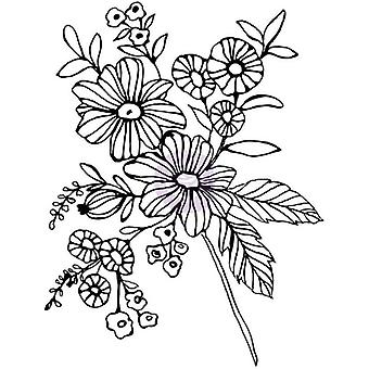 Christine Adolf Cling Rubber Stamps-Cheerful Bloom CACS-71670