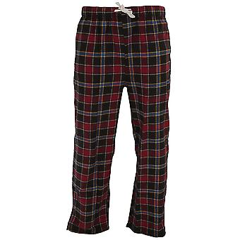 Cargo Bay Mens Cotton Check Pyjama Bottoms / Lounge Pants