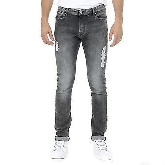 Andrew Charles Mens Jeans mörk grå Thomas