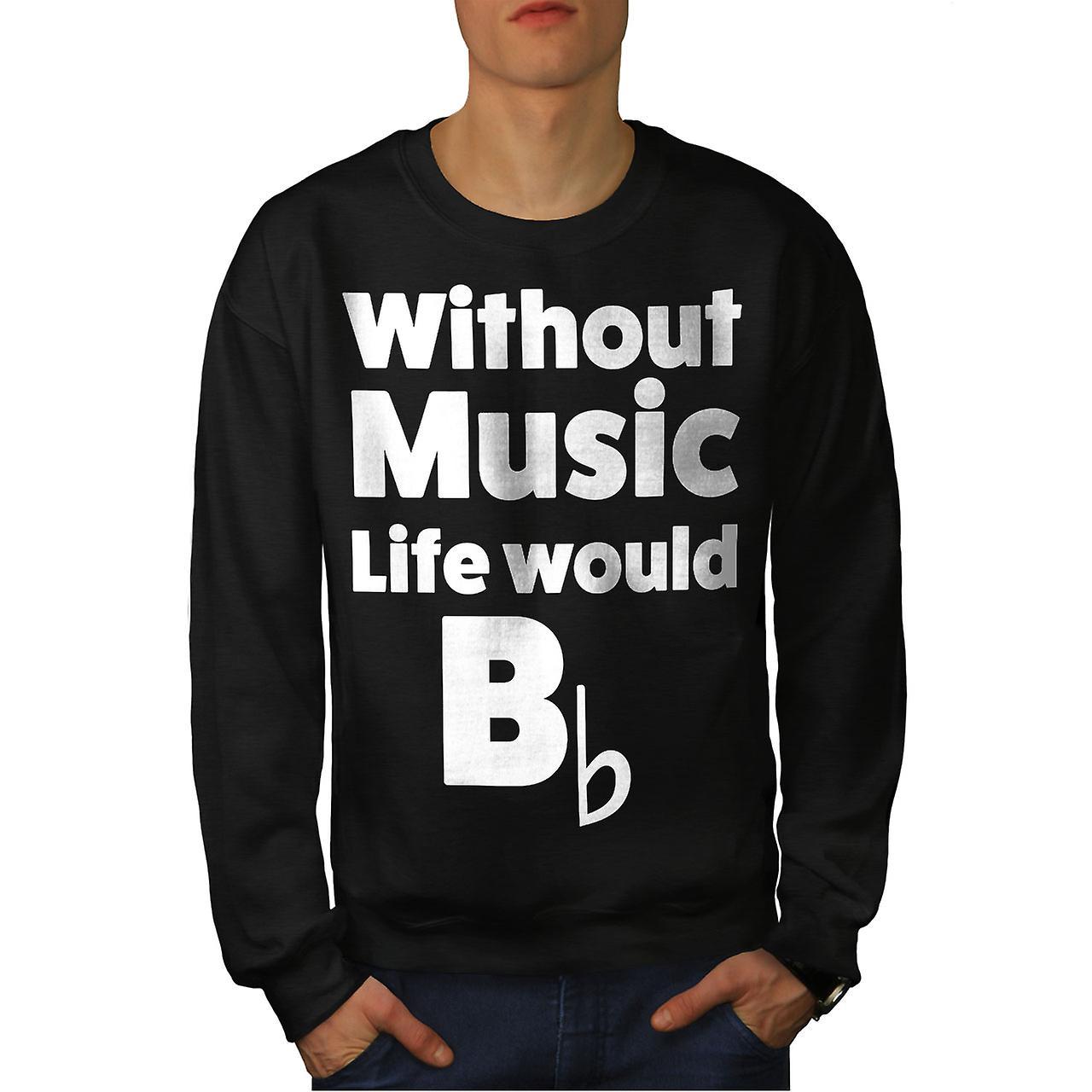 Amour de la musique hommes noirSweatshirt
