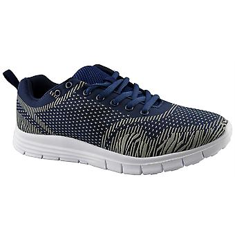 Mens New Air Tech Lace Up Lightweight Gym Running Jogger Trainers Shoes