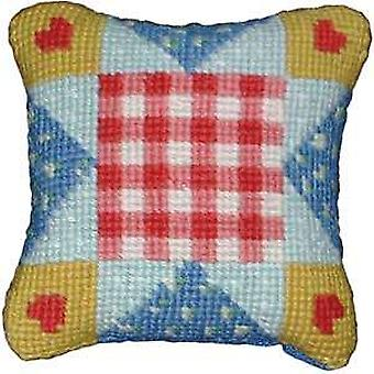 Patchwork harten Needlepoint Kit