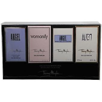 Angel Variety By Thierry Mugler 4 Piece Mini Variety Set With Angel & Alien & Angel Comet & Thierry Mugler Womanity And All Are Minis