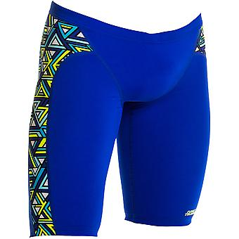Funky Trunks Mens Training Jammer - Maze Balls