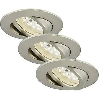 Briloner 7232-032 LED recessed light 3-piece set 16.5 W Warm white Nickel (matt)