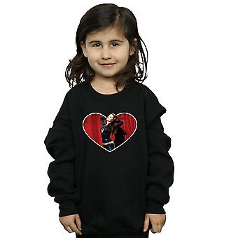 DC Comics Girls Batman TV Series Catwoman Heart Sweatshirt