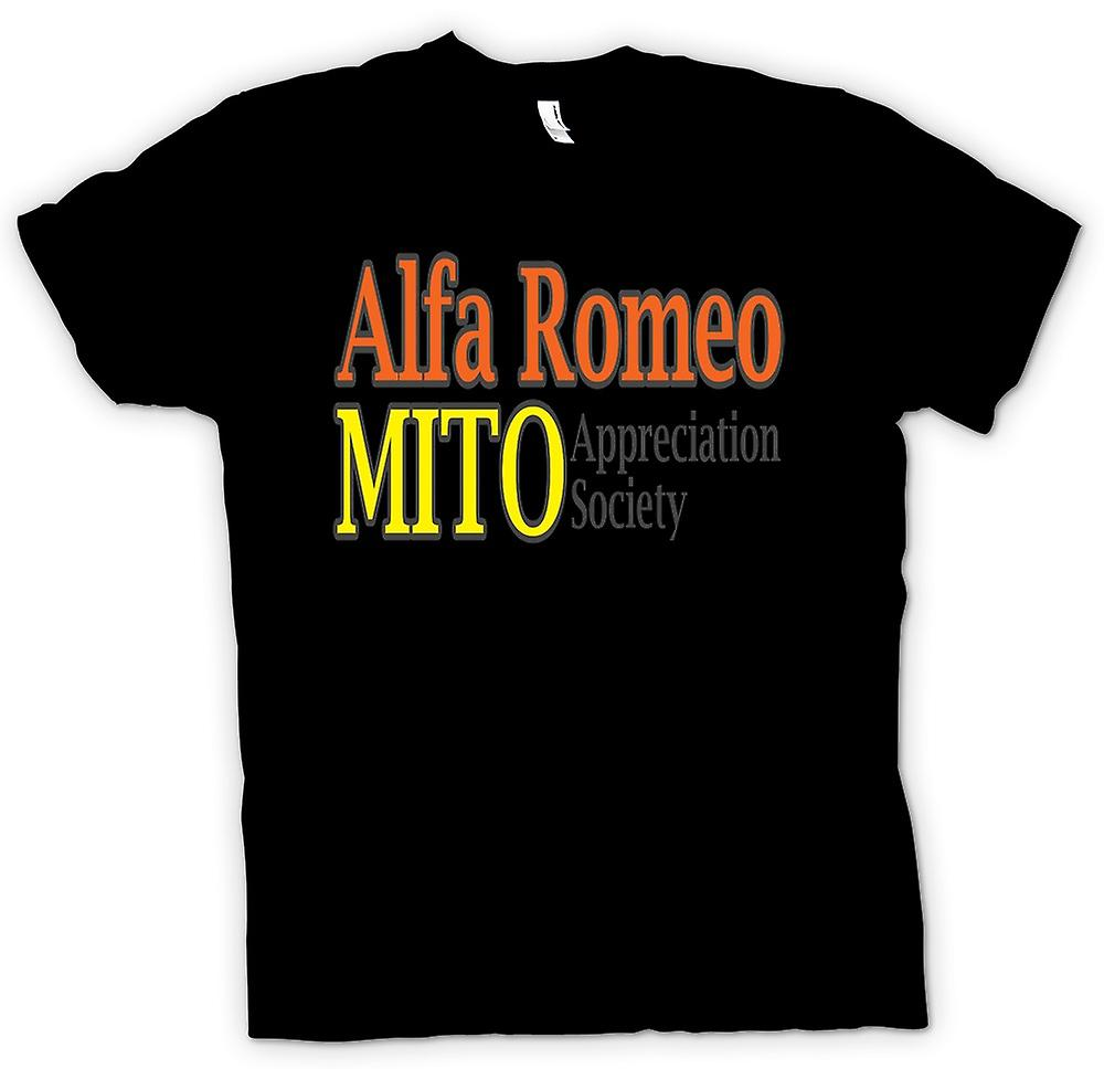 Womens T-shirt-Alfa Romeo Mito Appreciation Society